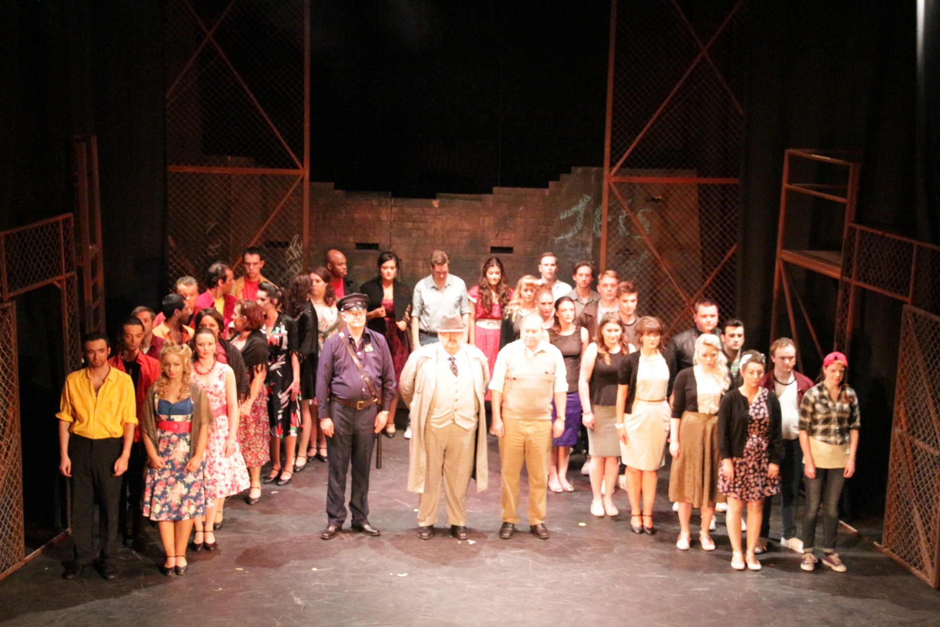 Curtain Call for the 2017 West Side Story Cast